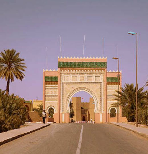 City gate of the city Rissani in Morocco